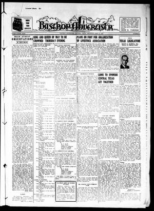 Primary view of object titled 'Bastrop Advertiser (Bastrop, Tex.), Vol. 86, No. 6, Ed. 1 Thursday, April 27, 1939'.