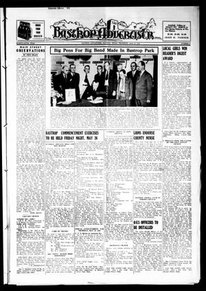Primary view of object titled 'Bastrop Advertiser (Bastrop, Tex.), Vol. 86, No. 9, Ed. 1 Thursday, May 18, 1939'.