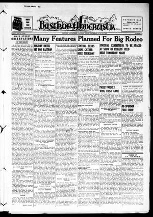 Primary view of object titled 'Bastrop Advertiser (Bastrop, Tex.), Vol. 86, No. 13, Ed. 1 Thursday, June 15, 1939'.