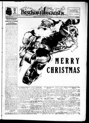 Primary view of object titled 'Bastrop Advertiser (Bastrop, Tex.), Vol. 86, No. 40, Ed. 1 Thursday, December 21, 1939'.