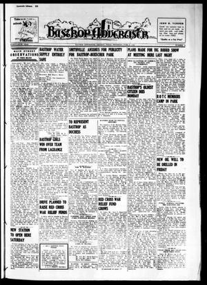 Primary view of object titled 'Bastrop Advertiser (Bastrop, Tex.), Vol. 87, No. 12, Ed. 1 Thursday, June 6, 1940'.