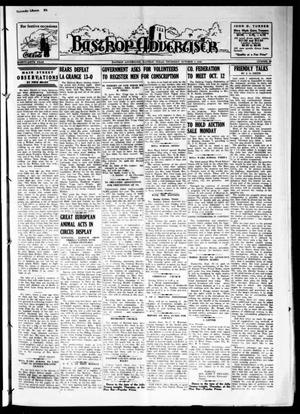 Primary view of object titled 'Bastrop Advertiser (Bastrop, Tex.), Vol. 87, No. 29, Ed. 1 Thursday, October 3, 1940'.