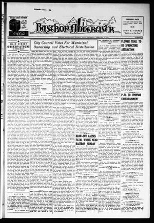 Primary view of object titled 'Bastrop Advertiser (Bastrop, Tex.), Vol. 87, No. 48, Ed. 1 Thursday, February 13, 1941'.