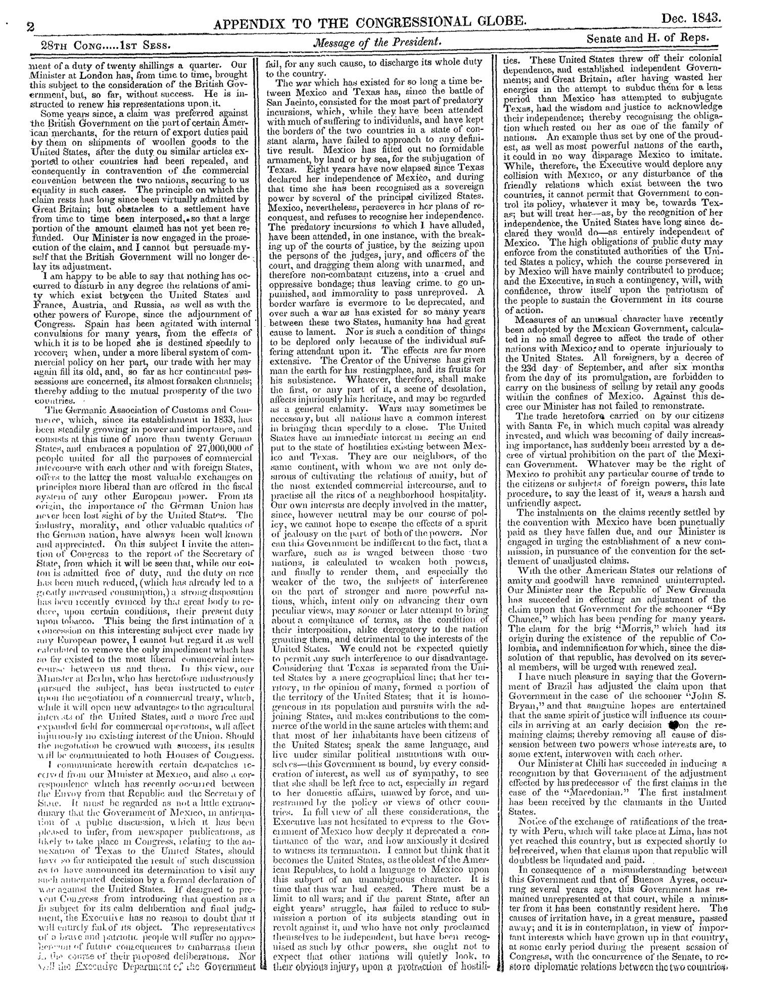The Congressional Globe, Volume 13, Part 2: Twenty-Eighth Congress, First Session                                                                                                      2