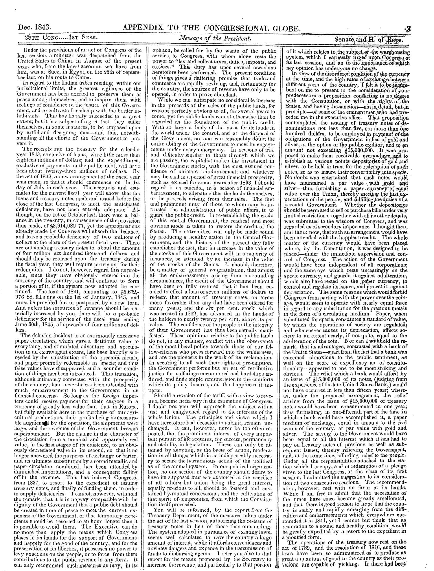 The Congressional Globe, Volume 13, Part 2: Twenty-Eighth Congress, First Session                                                                                                      3