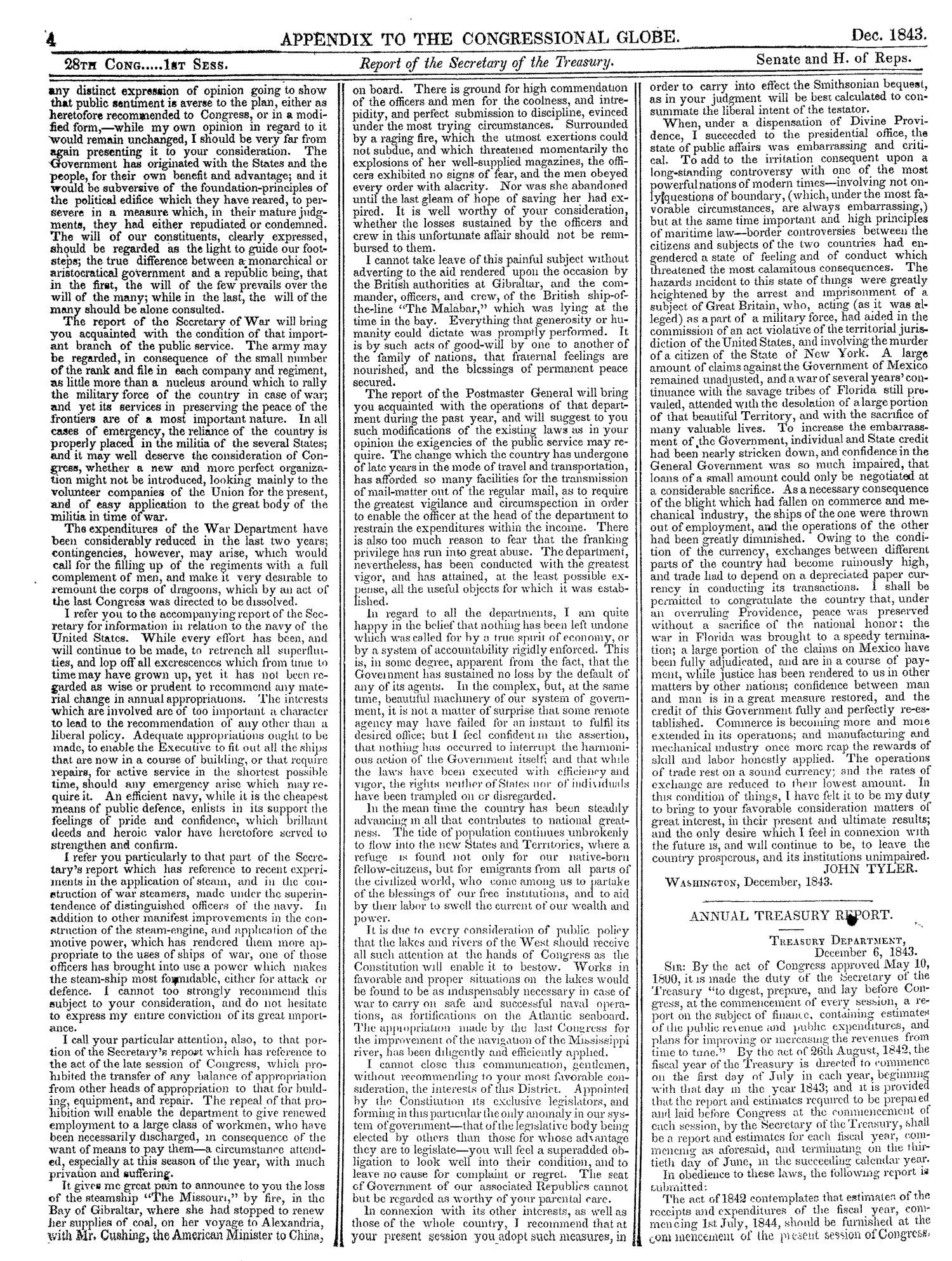 The Congressional Globe, Volume 13, Part 2: Twenty-Eighth Congress, First Session                                                                                                      4