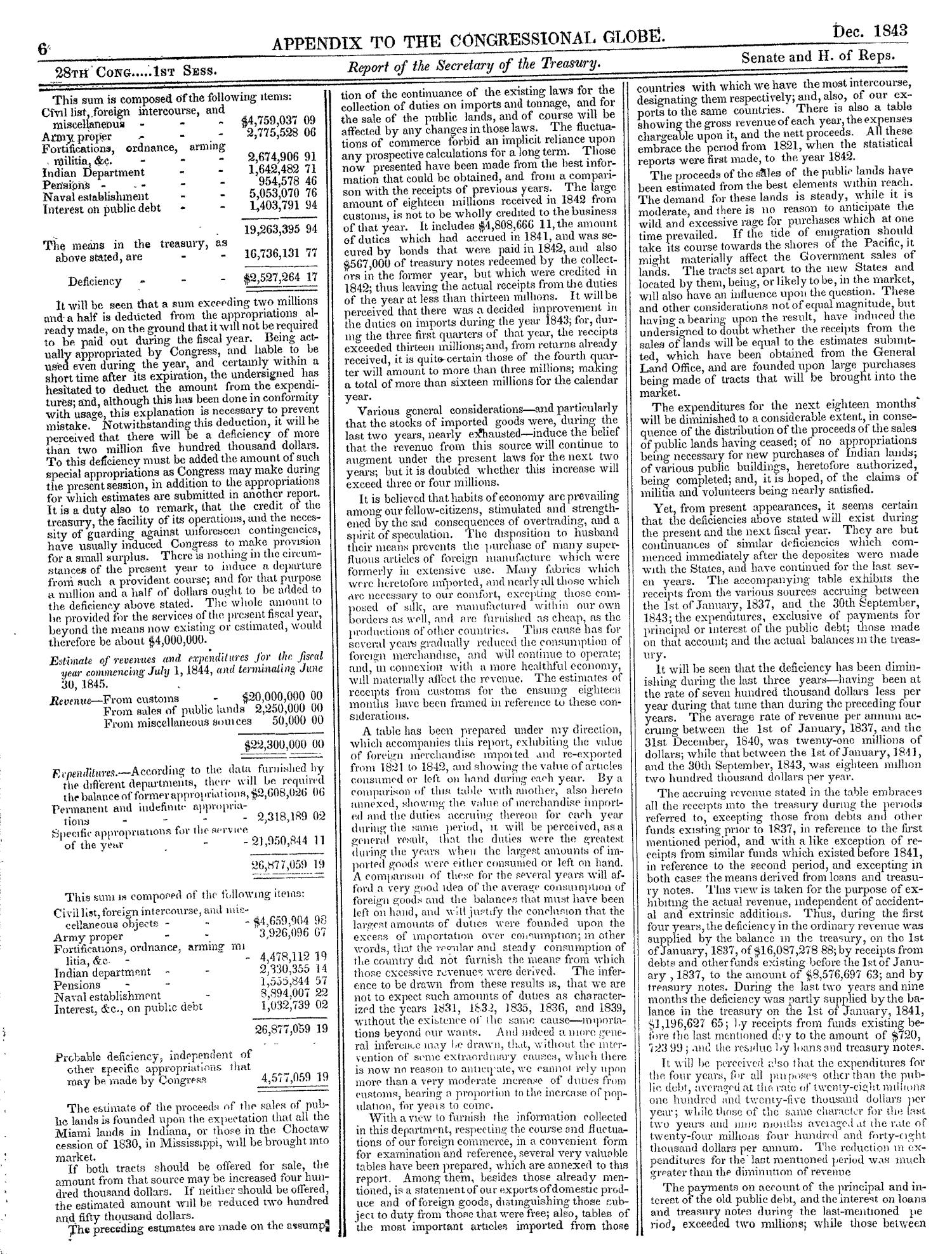 The Congressional Globe, Volume 13, Part 2: Twenty-Eighth Congress, First Session                                                                                                      6