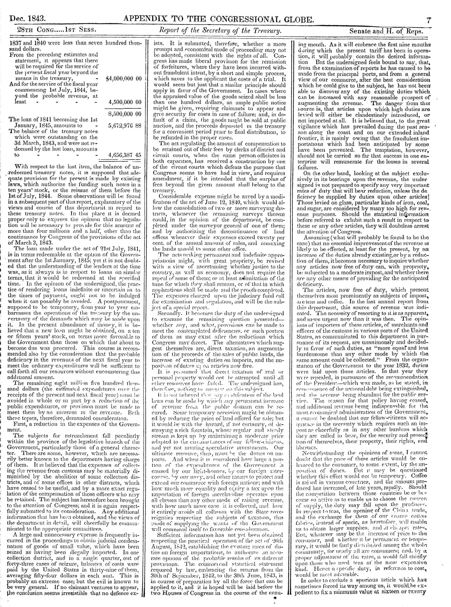 The Congressional Globe, Volume 13, Part 2: Twenty-Eighth Congress, First Session                                                                                                      7