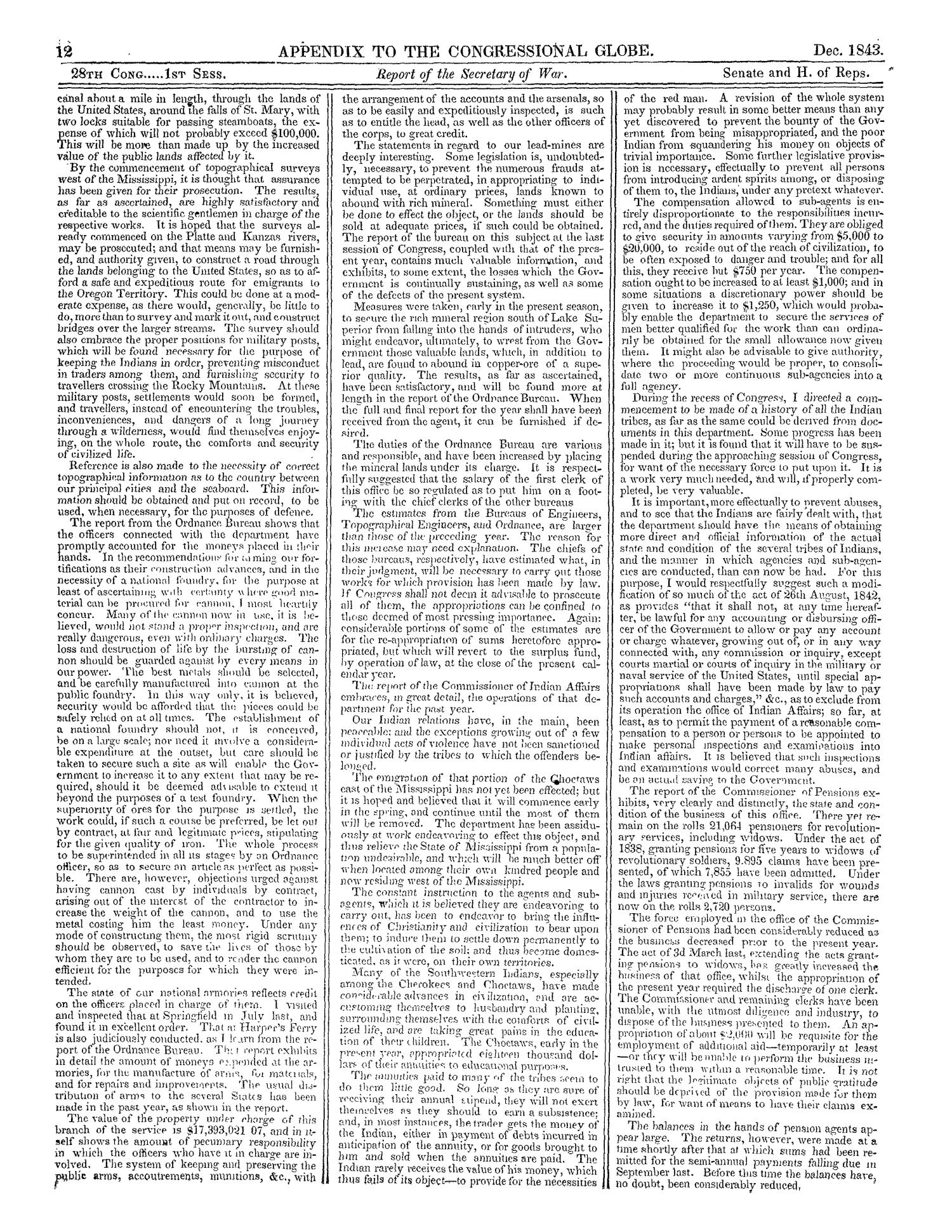 The Congressional Globe, Volume 13, Part 2: Twenty-Eighth Congress, First Session                                                                                                      12