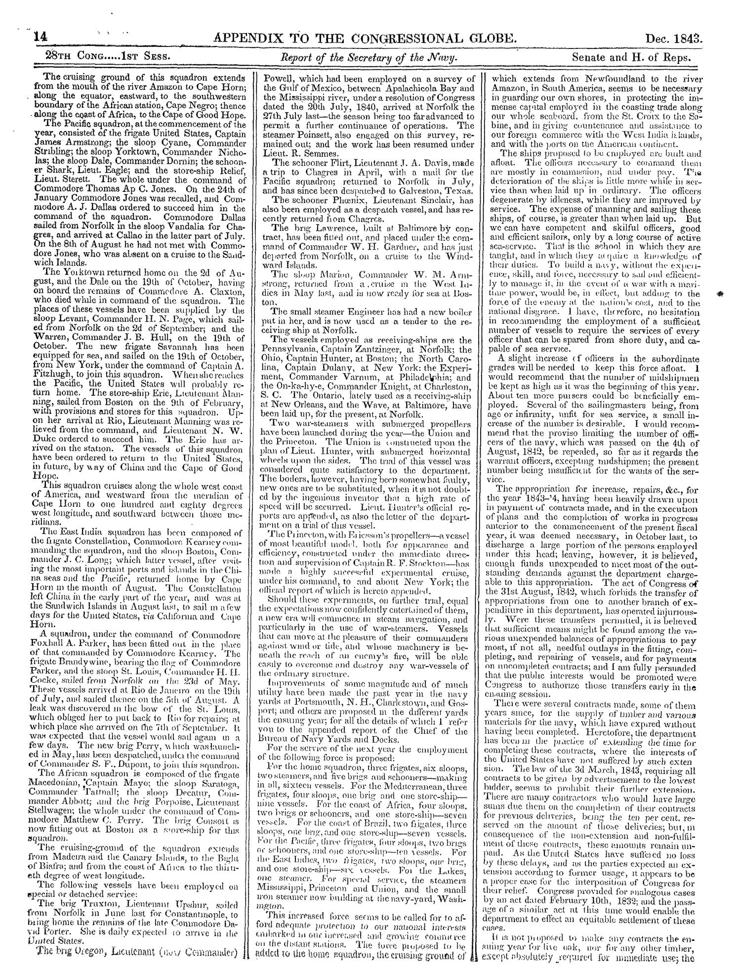 The Congressional Globe, Volume 13, Part 2: Twenty-Eighth Congress, First Session                                                                                                      14