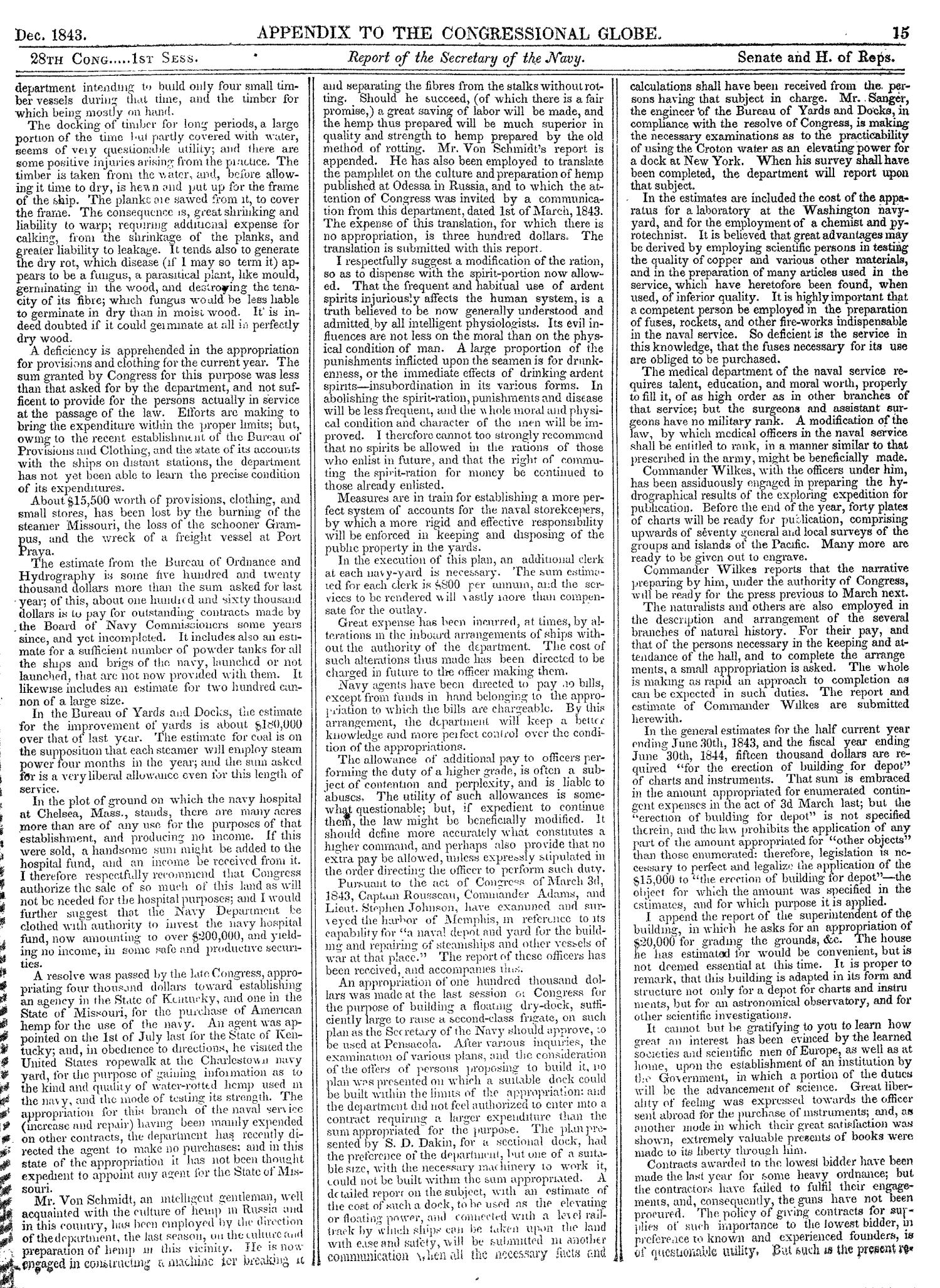 The Congressional Globe, Volume 13, Part 2: Twenty-Eighth Congress, First Session                                                                                                      15