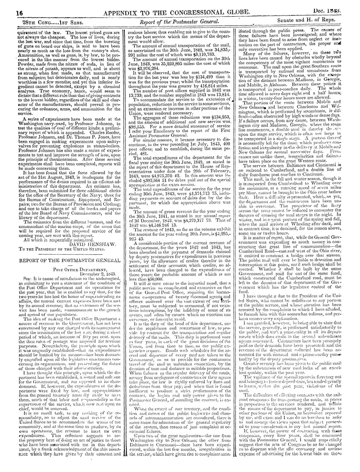 The Congressional Globe, Volume 13, Part 2: Twenty-Eighth Congress, First Session                                                                                                      16