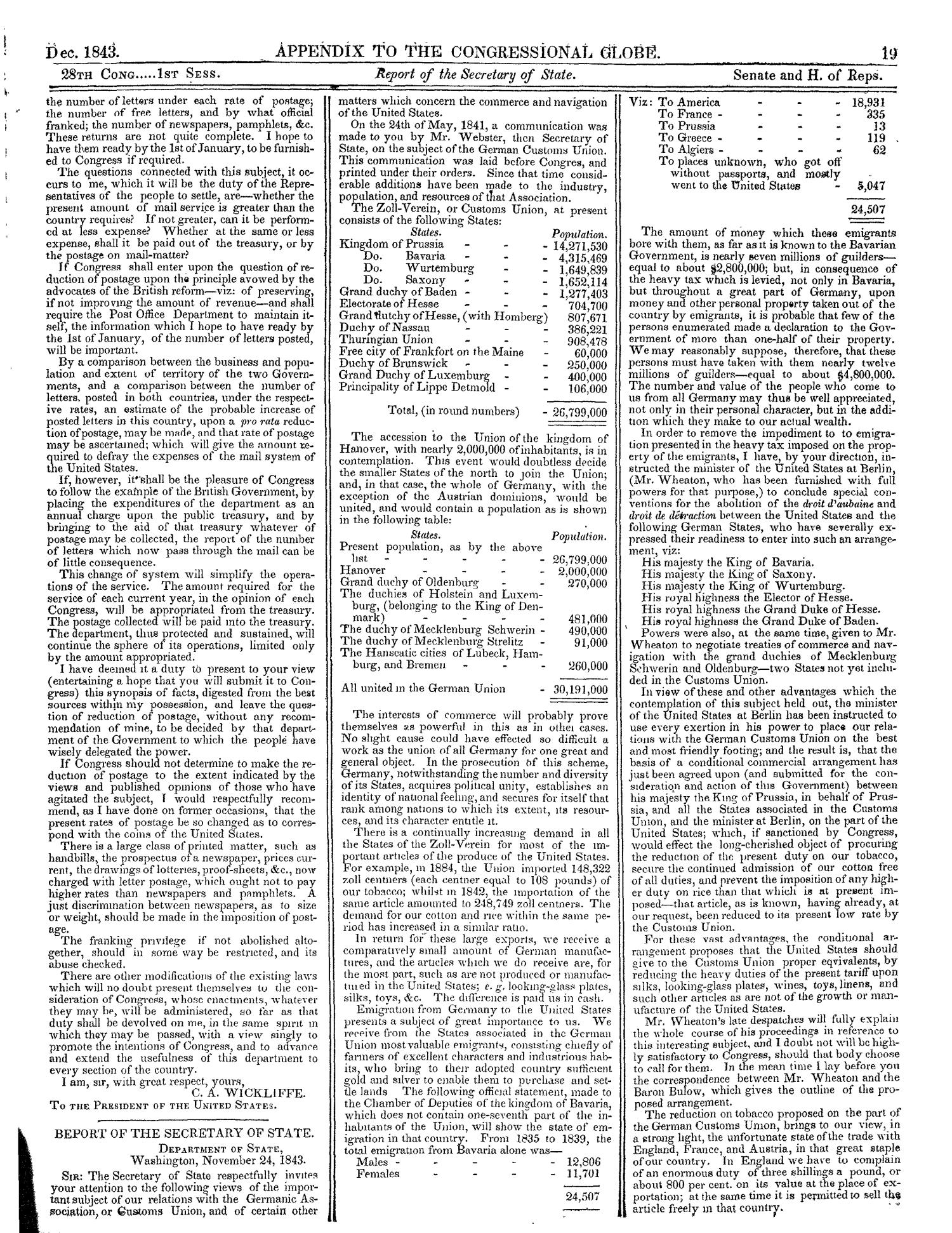 The Congressional Globe, Volume 13, Part 2: Twenty-Eighth Congress, First Session                                                                                                      19