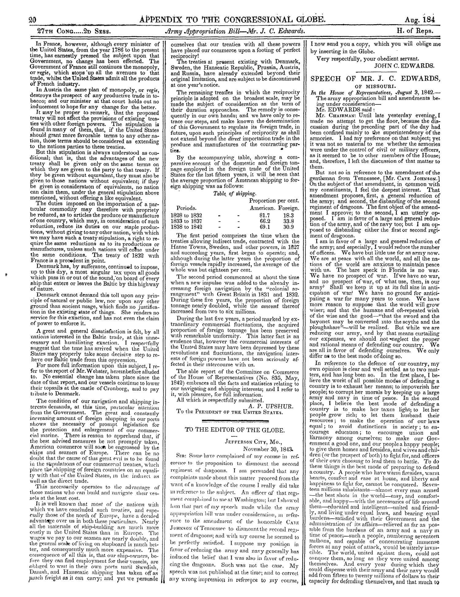 The Congressional Globe, Volume 13, Part 2: Twenty-Eighth Congress, First Session                                                                                                      20