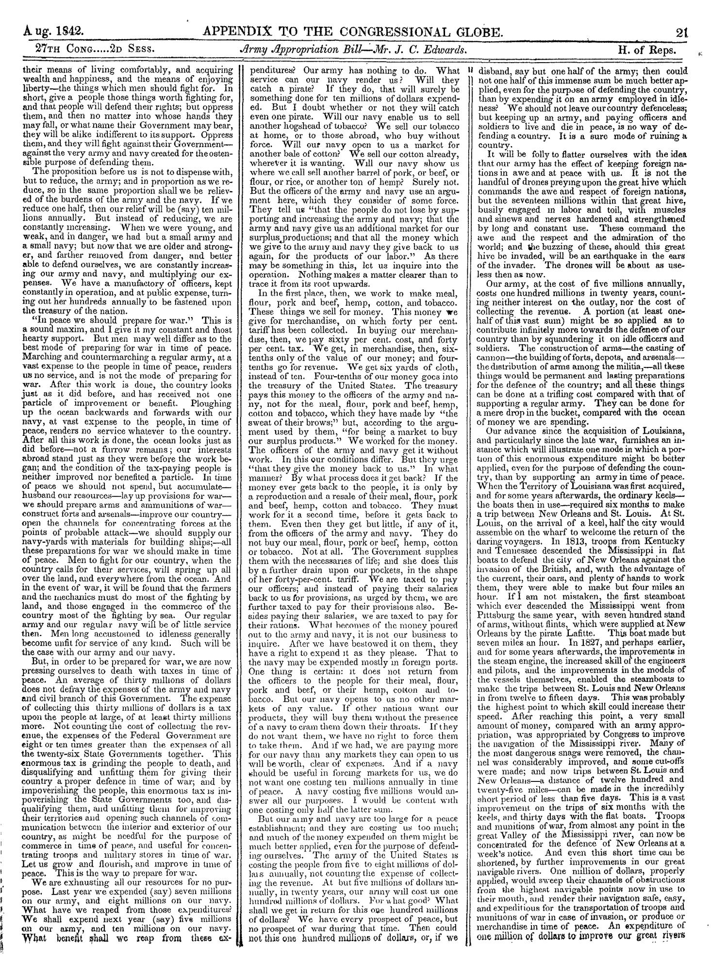 The Congressional Globe, Volume 13, Part 2: Twenty-Eighth Congress, First Session                                                                                                      21
