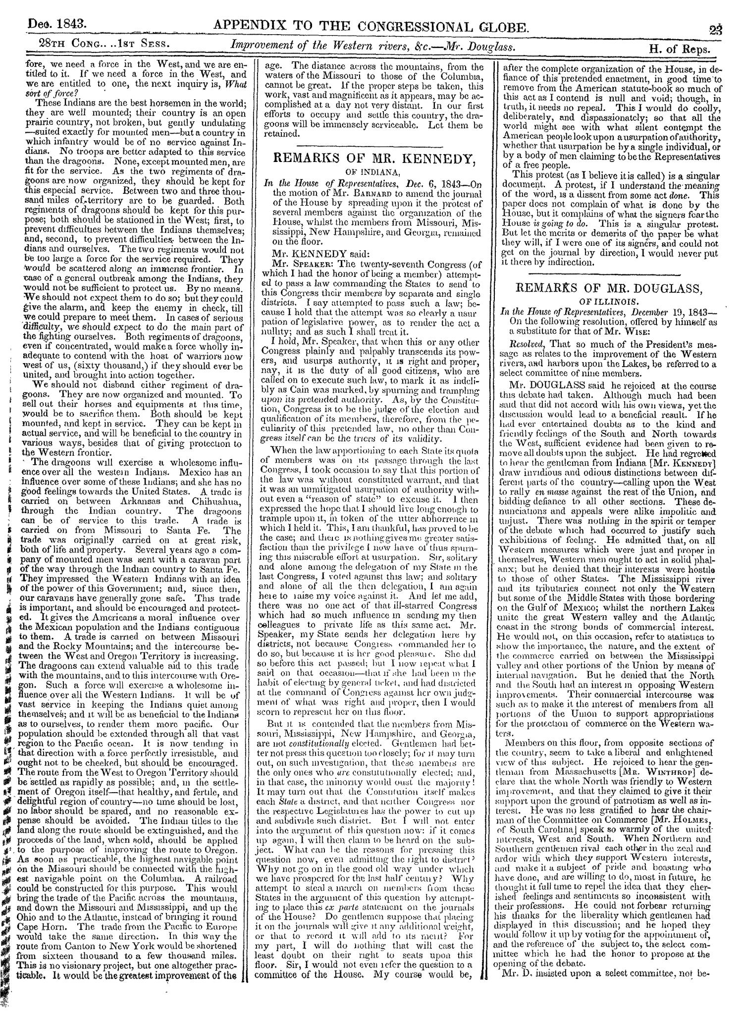 The Congressional Globe, Volume 13, Part 2: Twenty-Eighth Congress, First Session                                                                                                      23