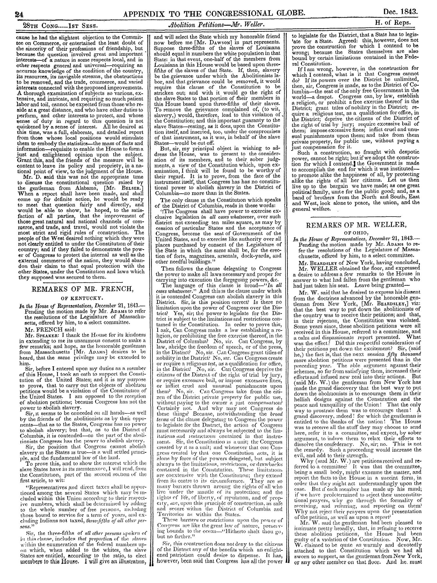 The Congressional Globe, Volume 13, Part 2: Twenty-Eighth Congress, First Session                                                                                                      24