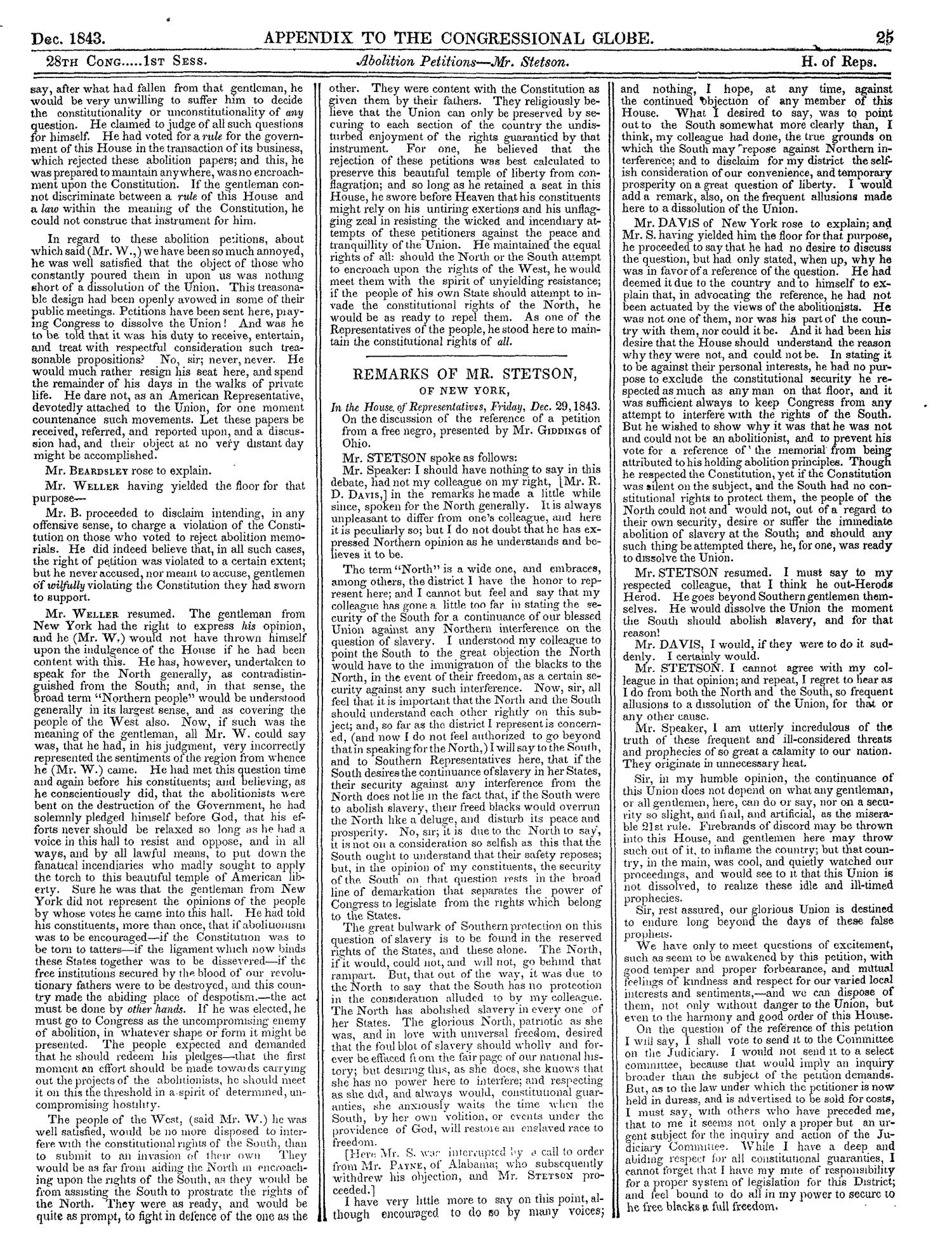 The Congressional Globe, Volume 13, Part 2: Twenty-Eighth Congress, First Session                                                                                                      25