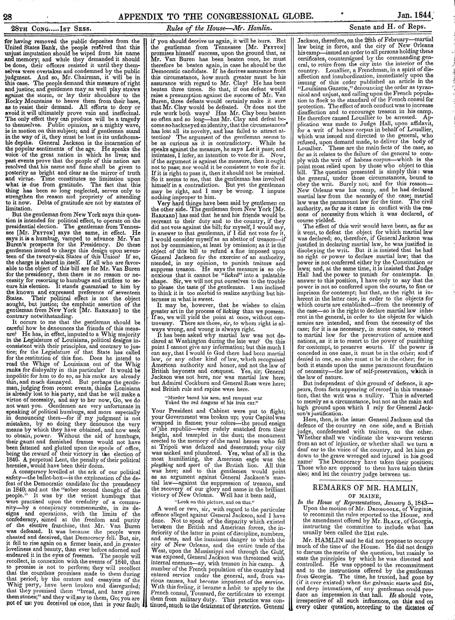 The Congressional Globe, Volume 13, Part 2: Twenty-Eighth Congress, First Session                                                                                                      28