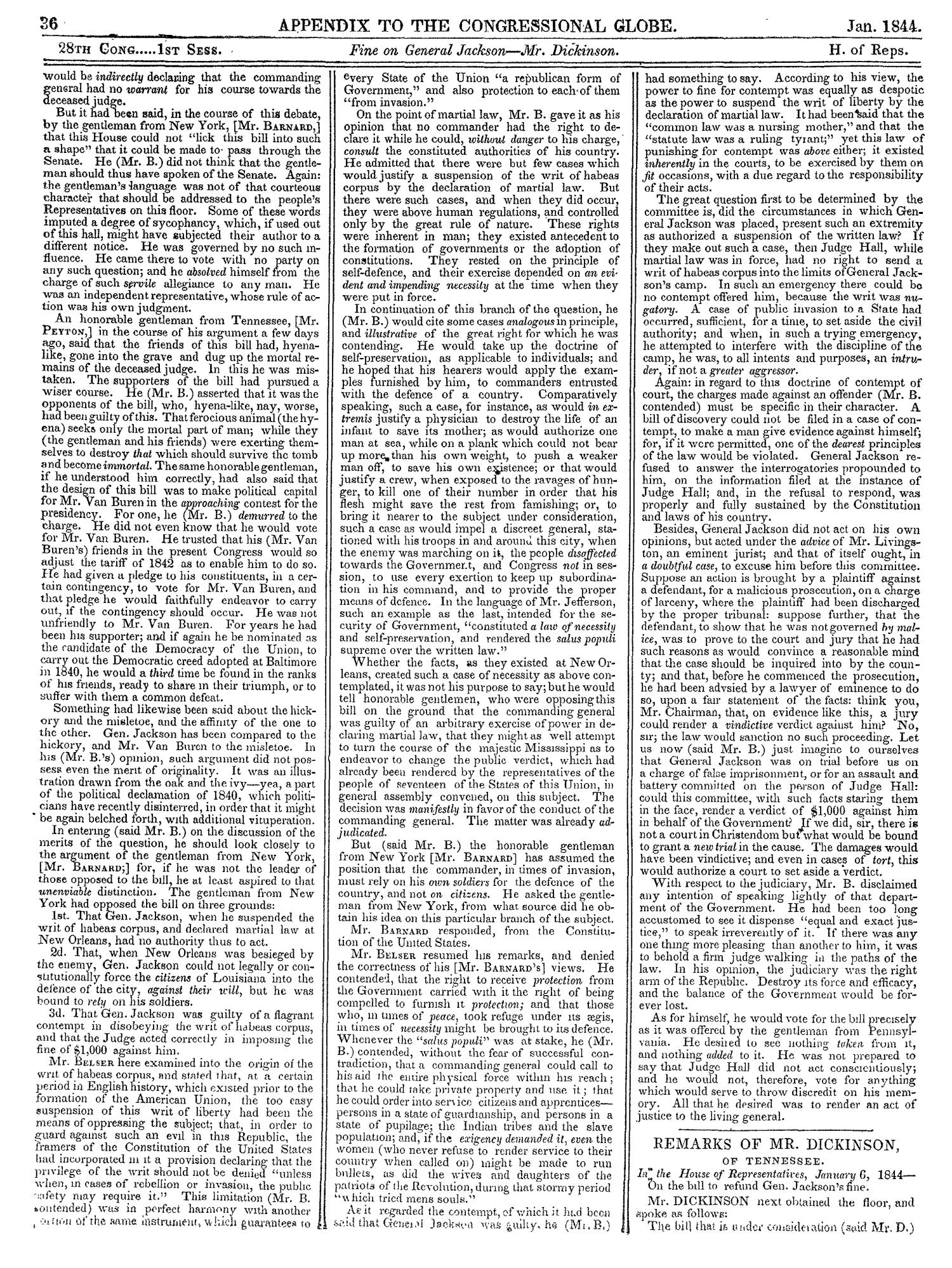 The Congressional Globe, Volume 13, Part 2: Twenty-Eighth Congress, First Session                                                                                                      36