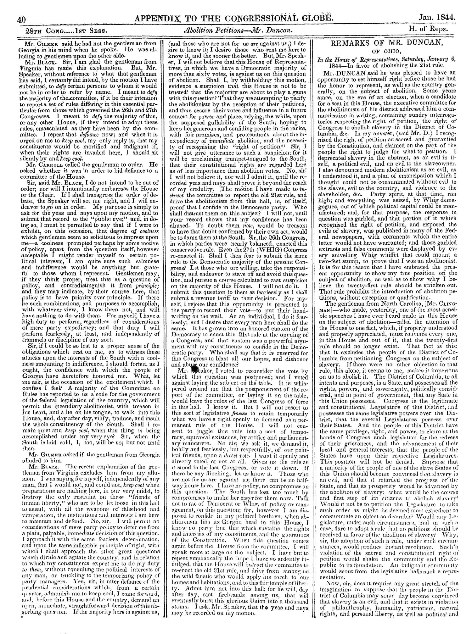 The Congressional Globe, Volume 13, Part 2: Twenty-Eighth Congress, First Session                                                                                                      40