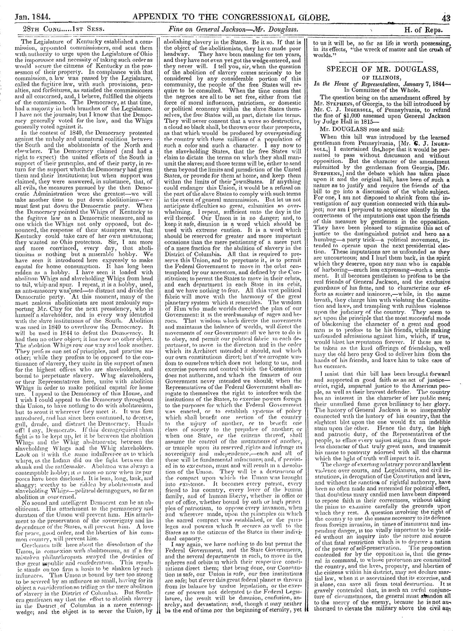 The Congressional Globe, Volume 13, Part 2: Twenty-Eighth Congress, First Session                                                                                                      43