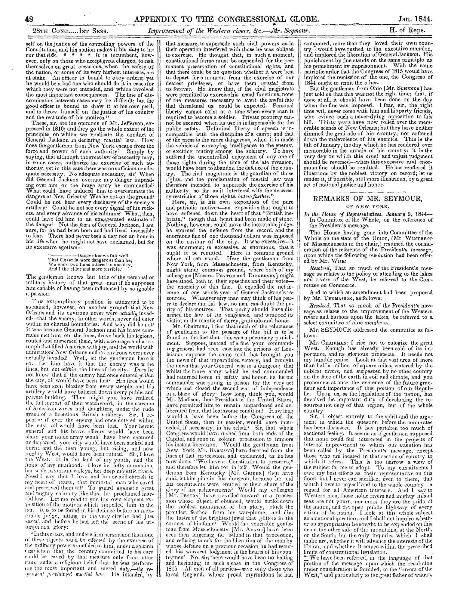 The Congressional Globe, Volume 13, Part 2: Twenty-Eighth Congress, First Session                                                                                                      48