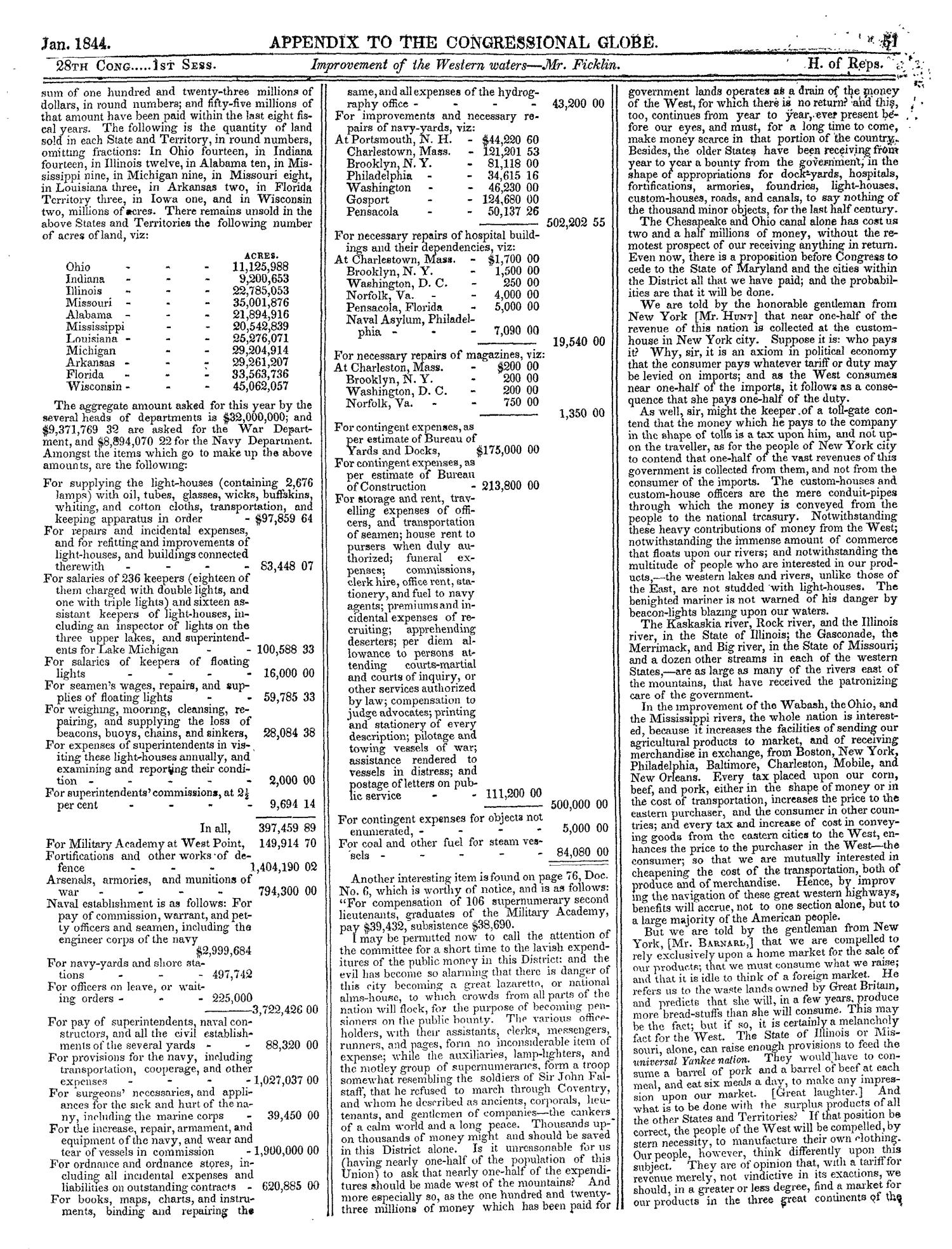 The Congressional Globe, Volume 13, Part 2: Twenty-Eighth Congress, First Session                                                                                                      51