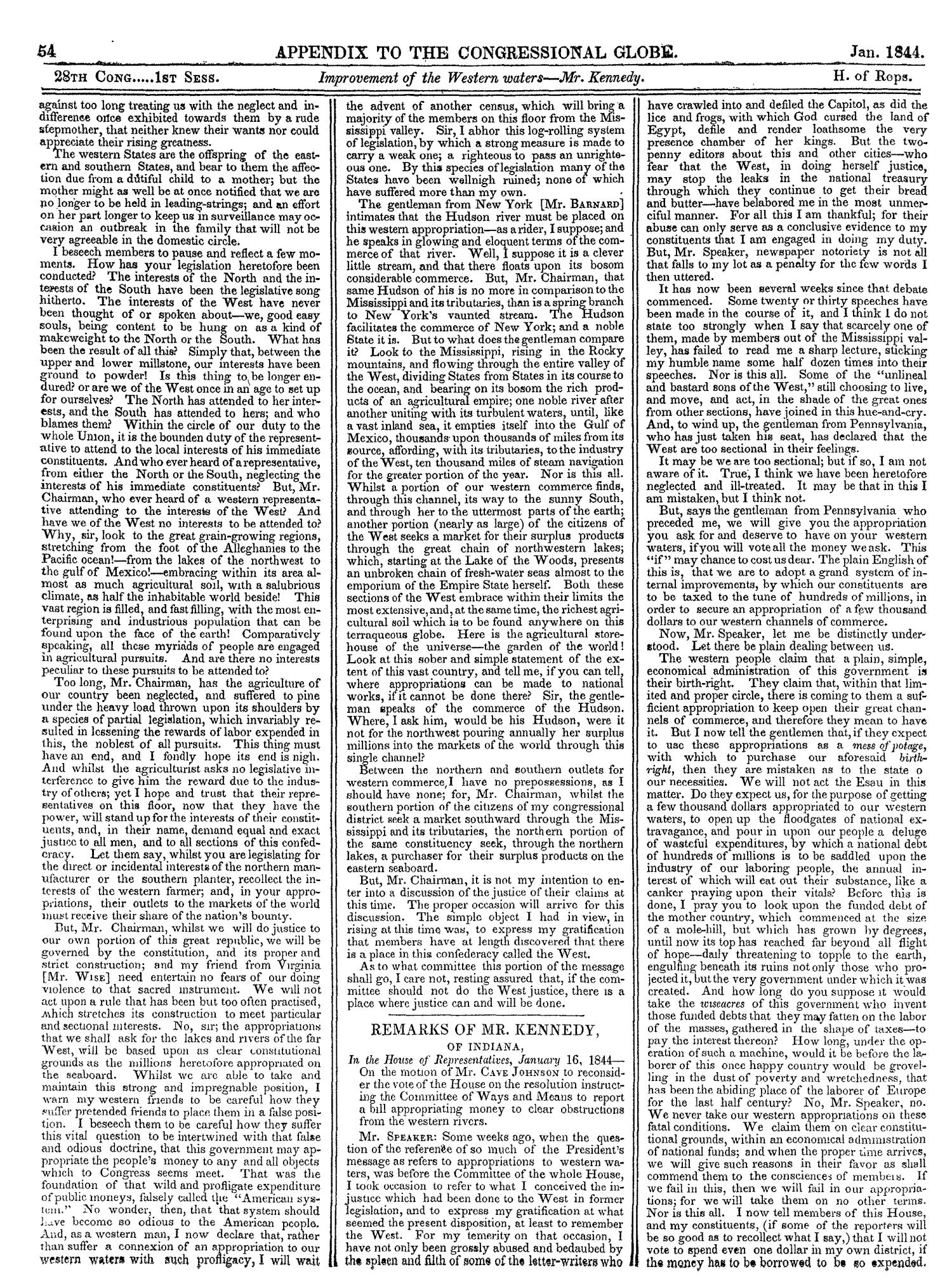 The Congressional Globe, Volume 13, Part 2: Twenty-Eighth Congress, First Session                                                                                                      54