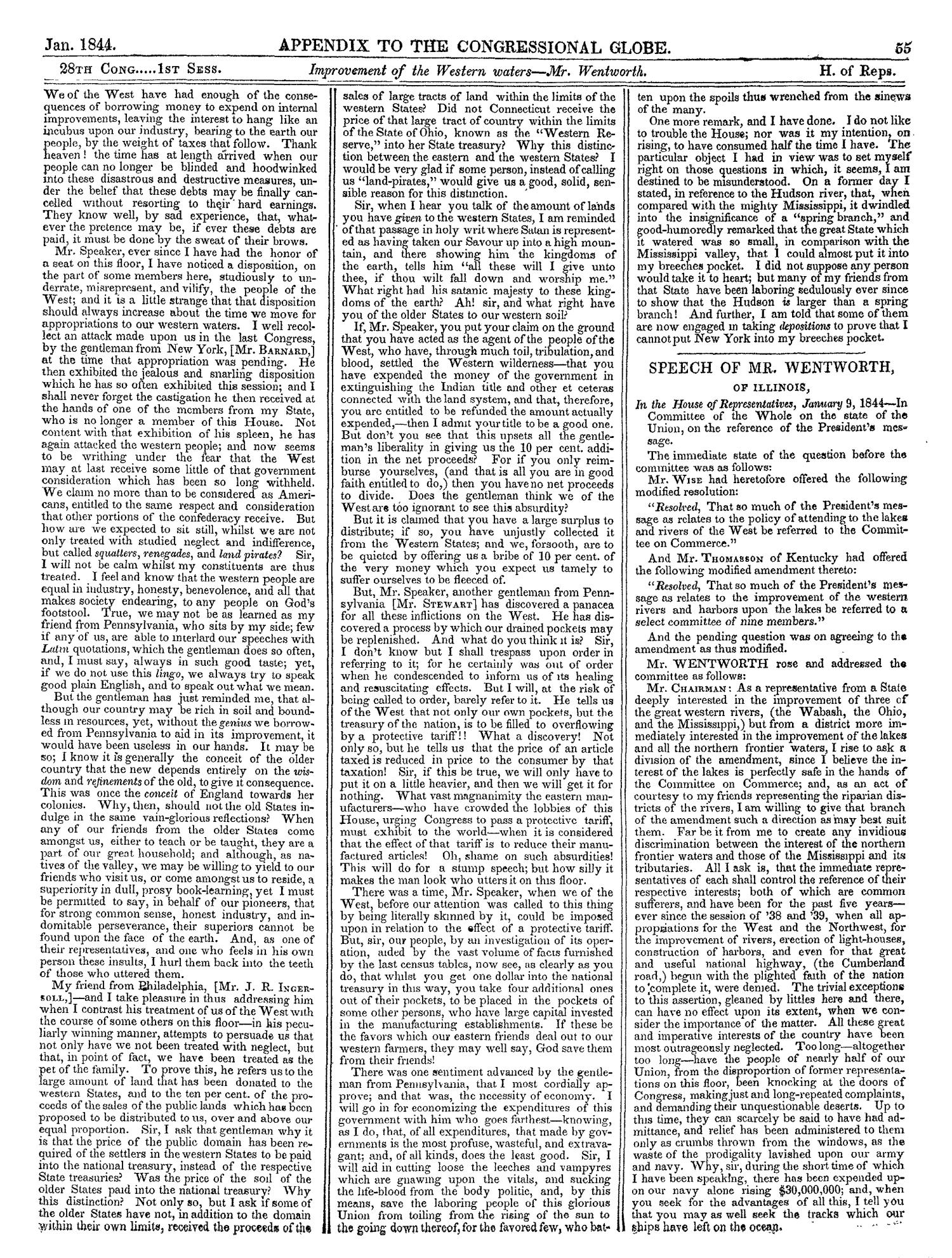 The Congressional Globe, Volume 13, Part 2: Twenty-Eighth Congress, First Session                                                                                                      55