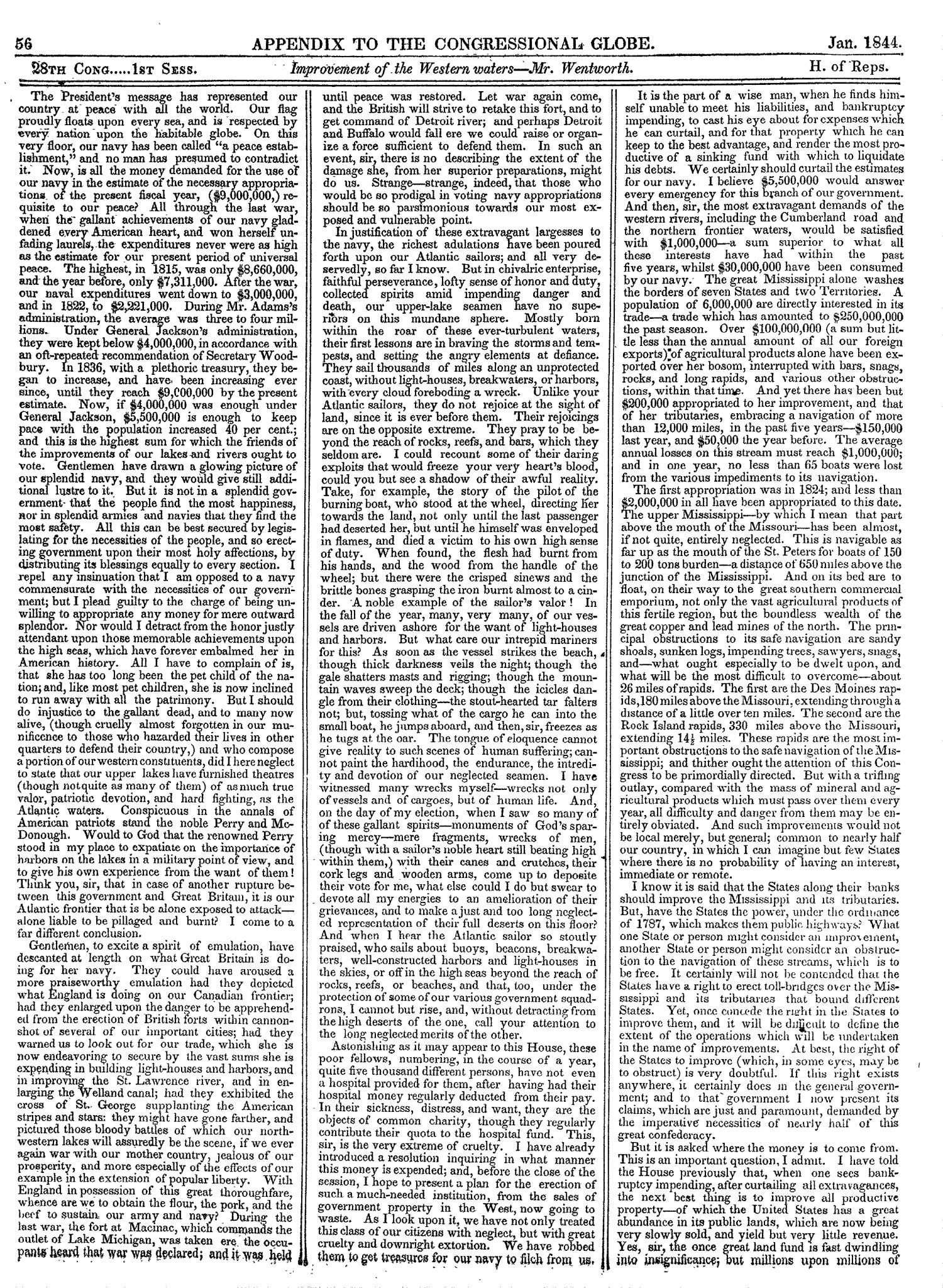 The Congressional Globe, Volume 13, Part 2: Twenty-Eighth Congress, First Session                                                                                                      56