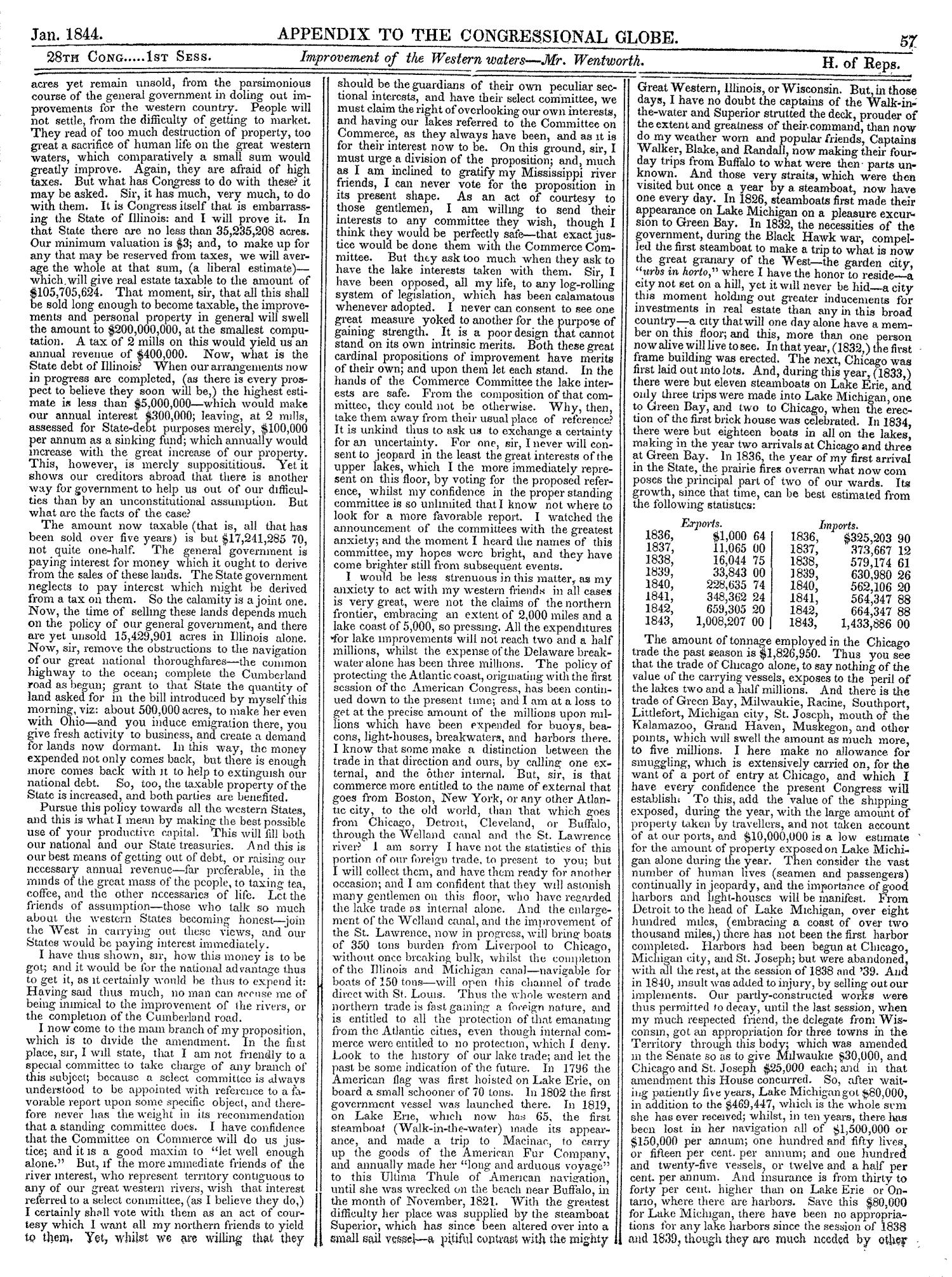 The Congressional Globe, Volume 13, Part 2: Twenty-Eighth Congress, First Session                                                                                                      57