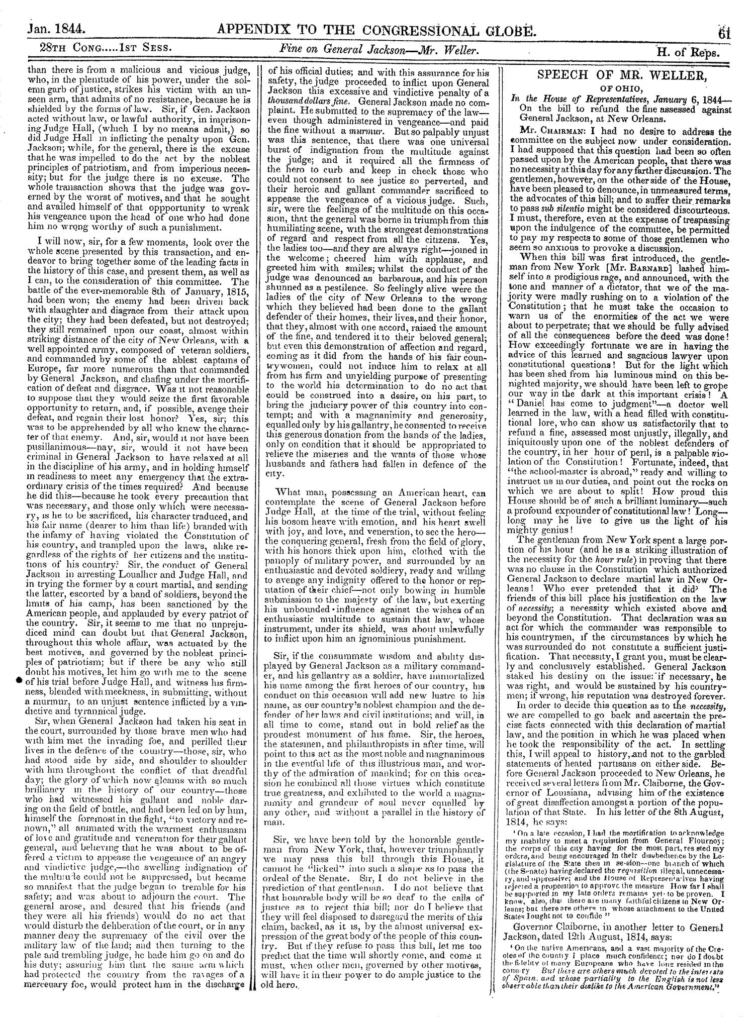 The Congressional Globe, Volume 13, Part 2: Twenty-Eighth Congress, First Session                                                                                                      61