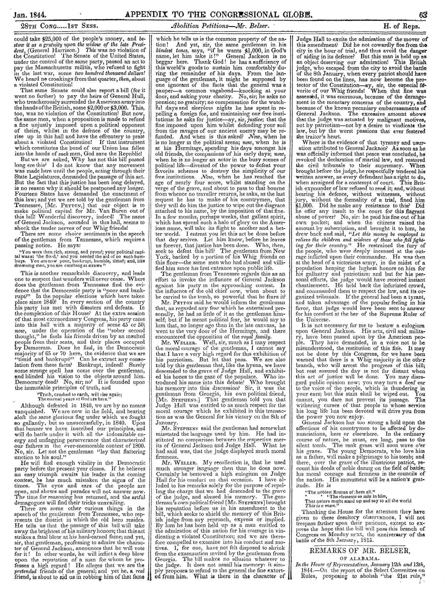 The Congressional Globe, Volume 13, Part 2: Twenty-Eighth Congress, First Session                                                                                                      63