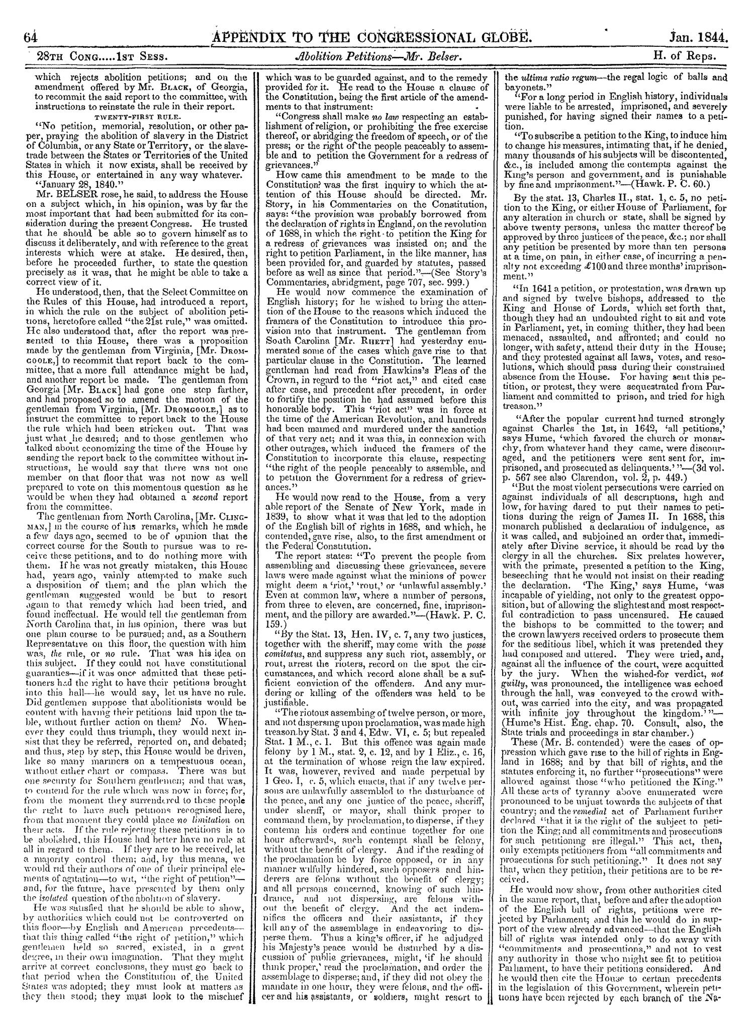 The Congressional Globe, Volume 13, Part 2: Twenty-Eighth Congress, First Session                                                                                                      64