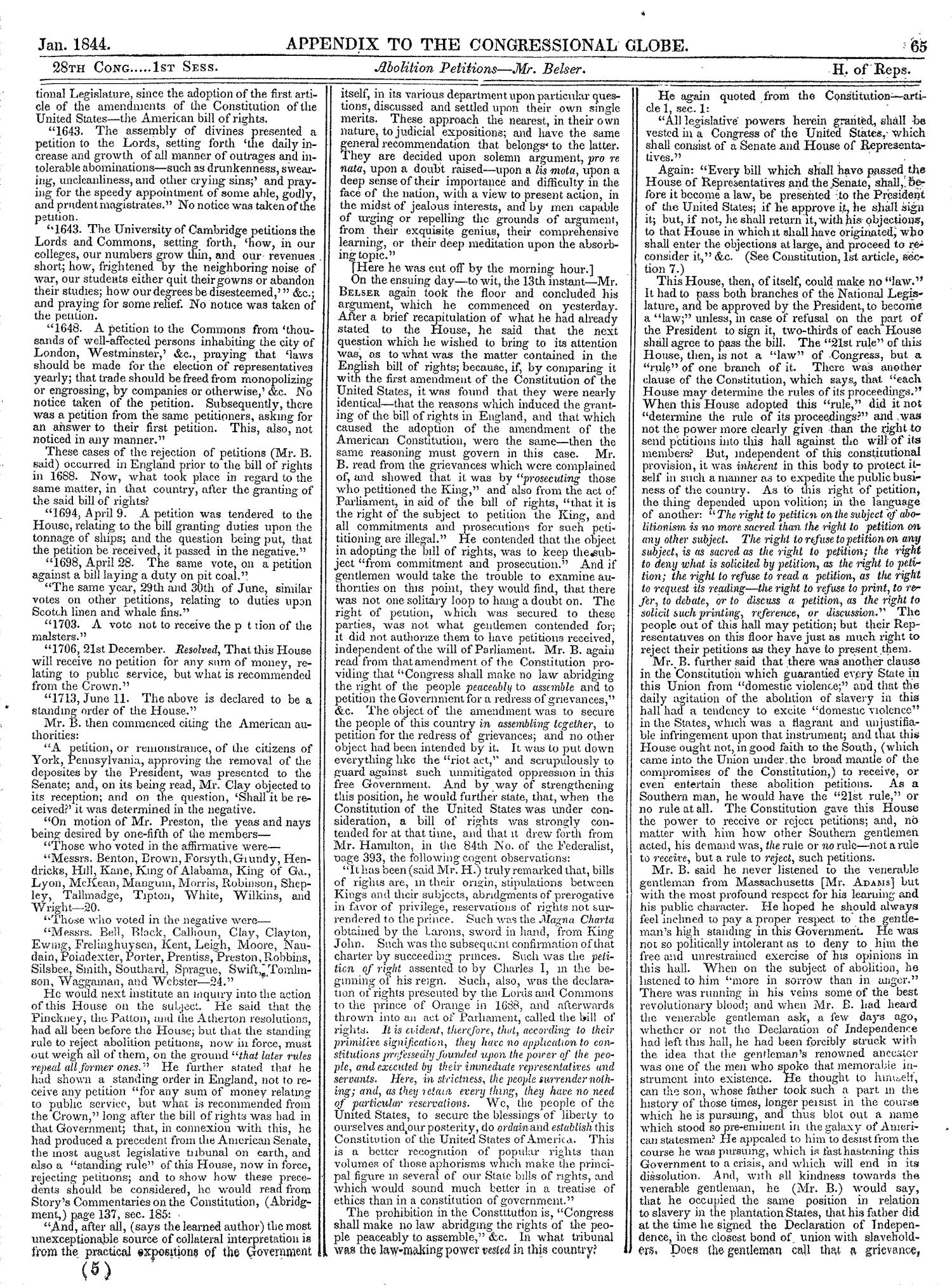 The Congressional Globe, Volume 13, Part 2: Twenty-Eighth Congress, First Session                                                                                                      65
