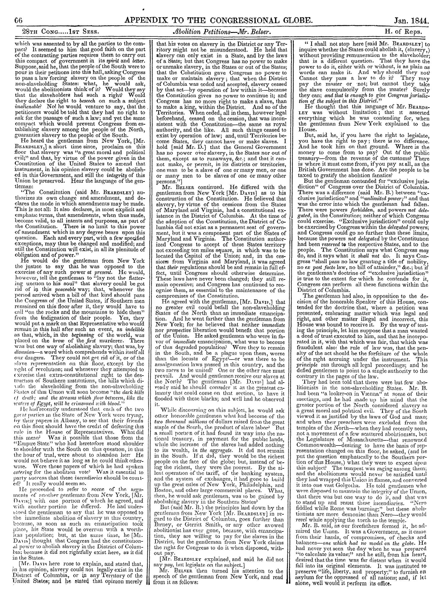 The Congressional Globe, Volume 13, Part 2: Twenty-Eighth Congress, First Session                                                                                                      66