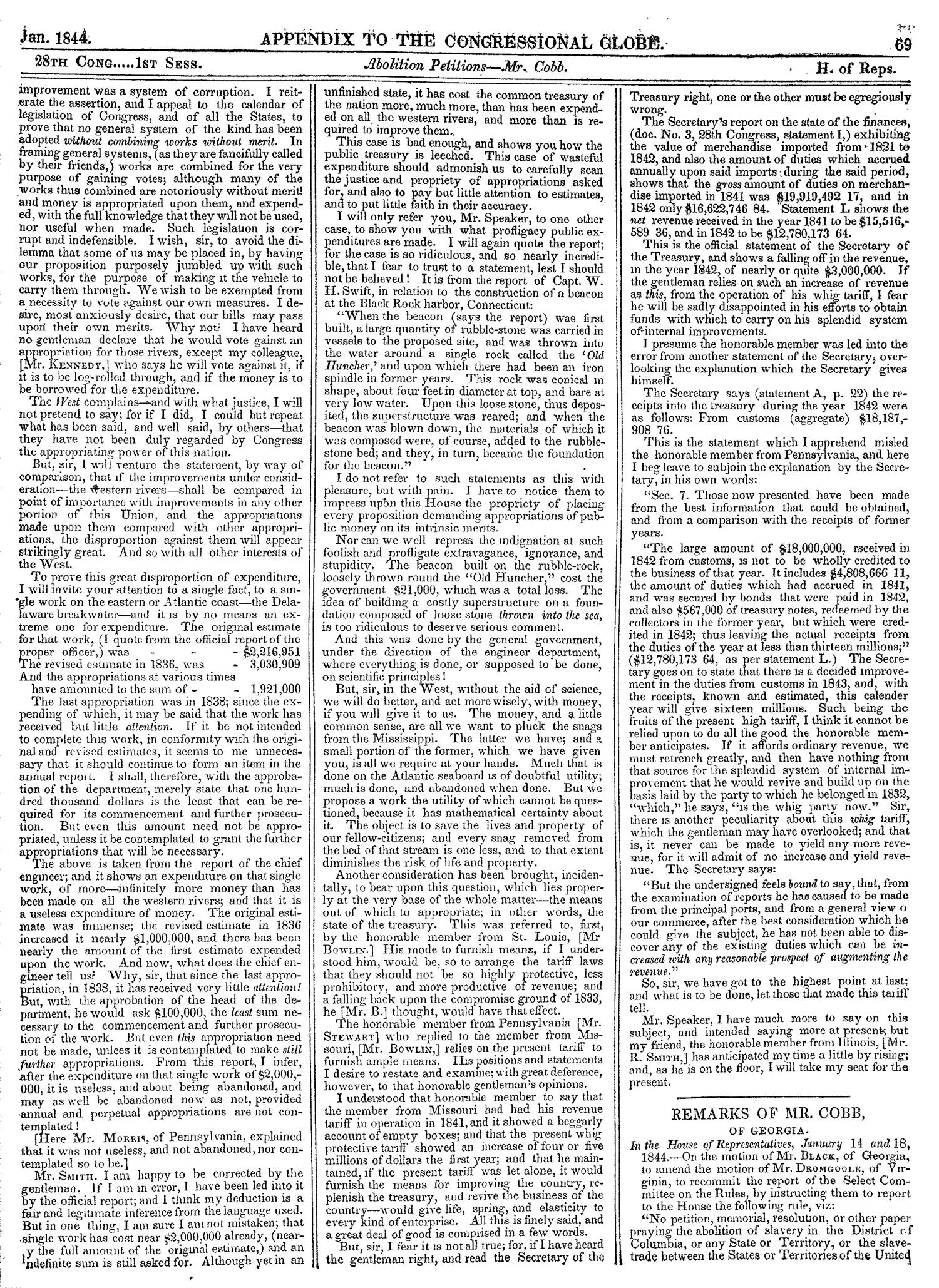 The Congressional Globe, Volume 13, Part 2: Twenty-Eighth Congress, First Session                                                                                                      69