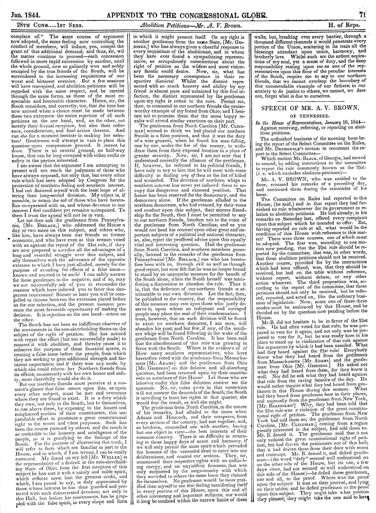 The Congressional Globe, Volume 13, Part 2: Twenty-Eighth Congress, First Session                                                                                                      71