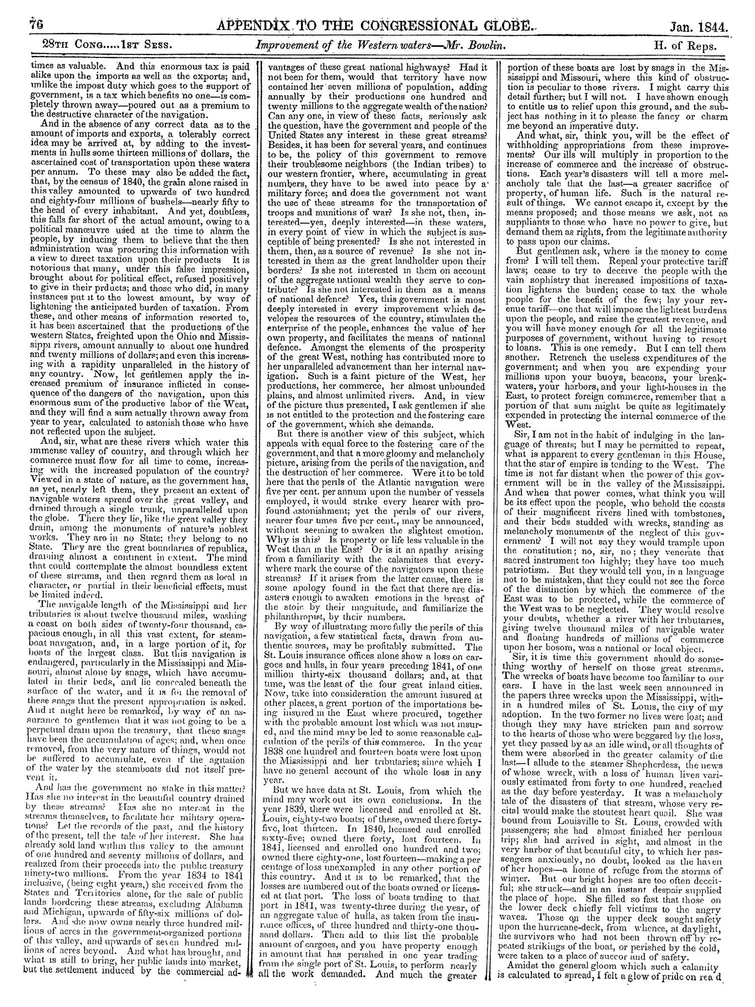 The Congressional Globe, Volume 13, Part 2: Twenty-Eighth Congress, First Session                                                                                                      76