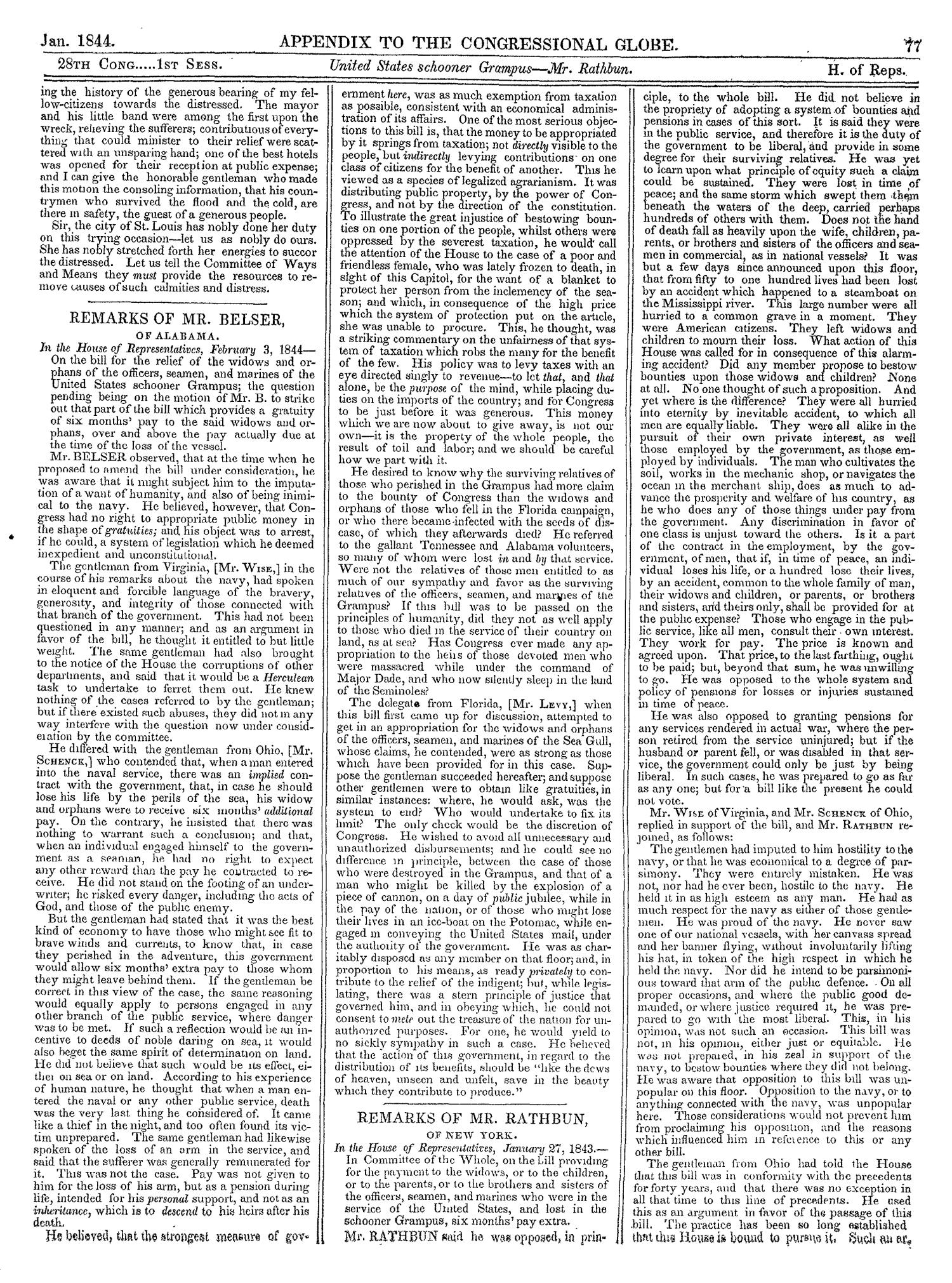 The Congressional Globe, Volume 13, Part 2: Twenty-Eighth Congress, First Session                                                                                                      77