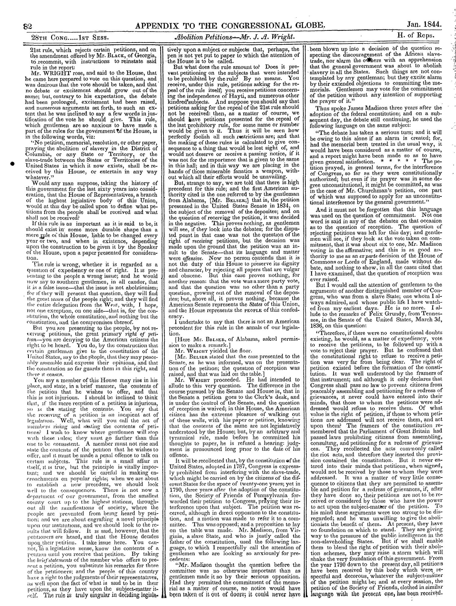 The Congressional Globe, Volume 13, Part 2: Twenty-Eighth Congress, First Session                                                                                                      82