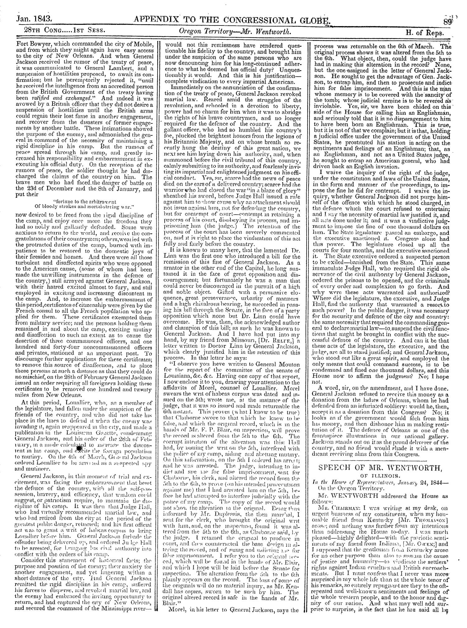 The Congressional Globe, Volume 13, Part 2: Twenty-Eighth Congress, First Session                                                                                                      89