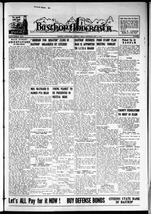 Primary view of object titled 'Bastrop Advertiser (Bastrop, Tex.), Vol. 88, No. 8, Ed. 1 Thursday, May 8, 1941'.