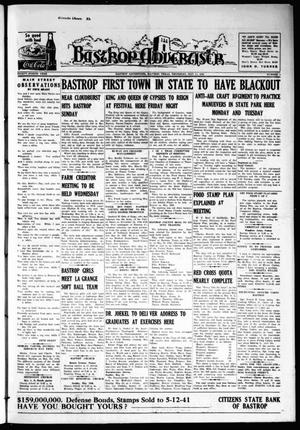 Primary view of object titled 'Bastrop Advertiser (Bastrop, Tex.), Vol. 88, No. 9, Ed. 1 Thursday, May 15, 1941'.