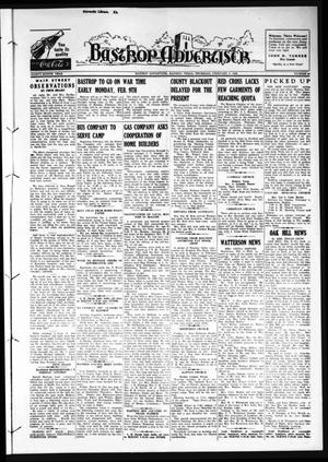 Primary view of object titled 'Bastrop Advertiser (Bastrop, Tex.), Vol. 88, No. 46, Ed. 1 Thursday, February 5, 1942'.