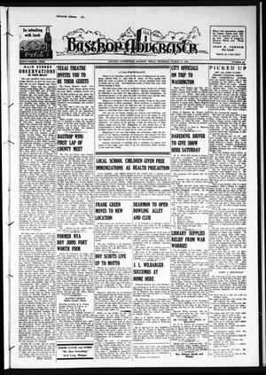 Primary view of object titled 'Bastrop Advertiser (Bastrop, Tex.), Vol. 88, No. 52, Ed. 1 Thursday, March 19, 1942'.