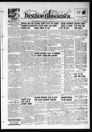 Primary view of object titled 'Bastrop Advertiser (Bastrop, Tex.), Vol. 89, No. 7, Ed. 1 Thursday, May 7, 1942'.