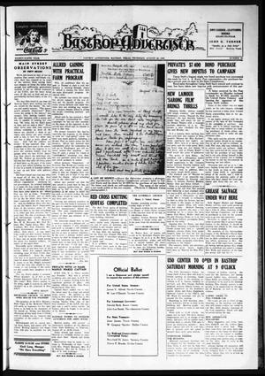 Primary view of object titled 'Bastrop Advertiser (Bastrop, Tex.), Vol. 89, No. 22, Ed. 1 Thursday, August 20, 1942'.