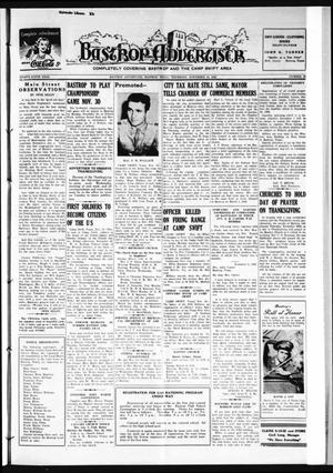 Primary view of object titled 'Bastrop Advertiser (Bastrop, Tex.), Vol. 89, No. 35, Ed. 1 Thursday, November 19, 1942'.